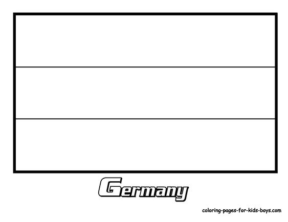 germany flag coloring page # 43