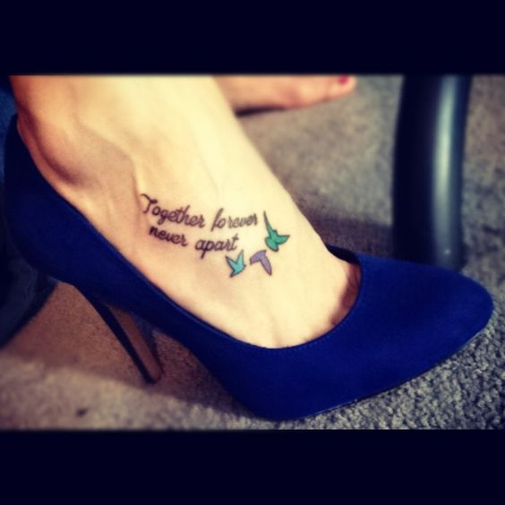 Distance Heart Never Never Tattoos Forever Feet Together Maybe Apart