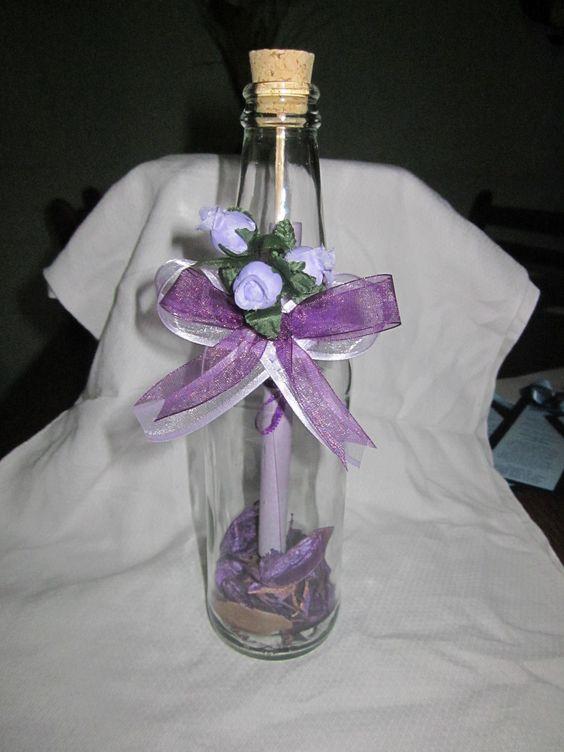 15 Anos Botellas Con Centros Para Vino Mesa De De