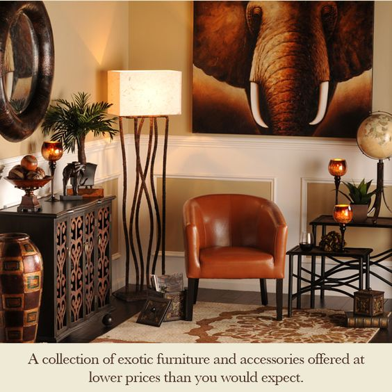 African Themed Living Room Ideas
