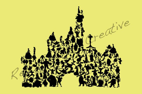 Disney Character Silhouettes Castle