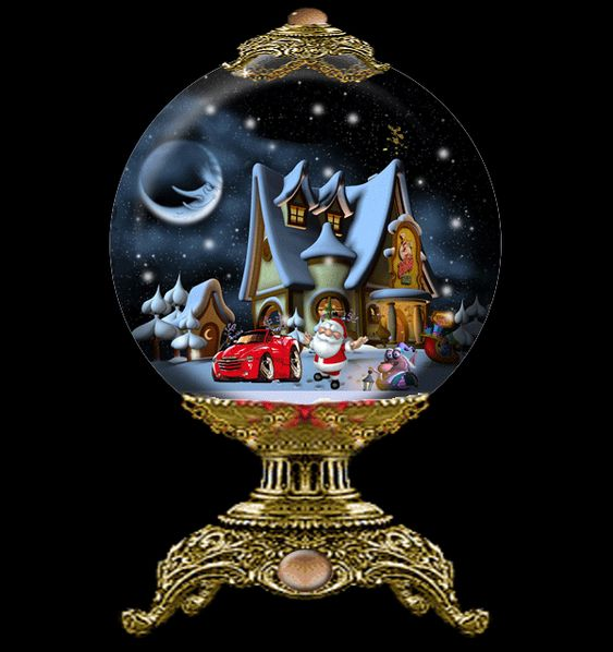 Snow Backgrounds Globes Animated Christmas