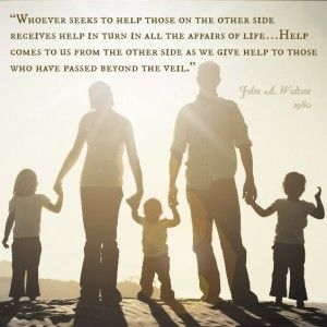 A Mormon family holding hands at sunset. Quote from John ...
