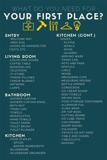 Apartment Decorating Checklist
