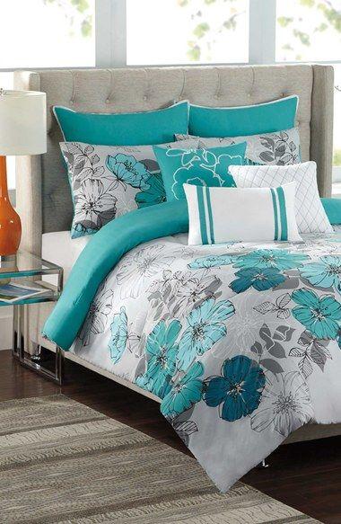 Madison Park Bali 7 Pc Comforter Set Blue Beautiful