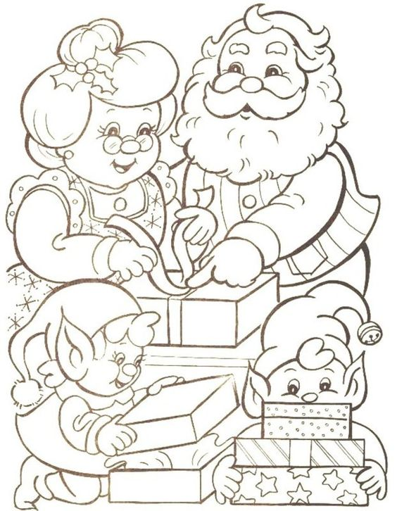 Claus Mr Mrs Coloring Santa Page
