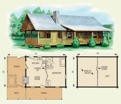65 Log Cabin With Loft Floor Plans   rental cabin plans 16x24 16x24         I like this plan small log cabin floor plans mingo log for Log cabin  with loft
