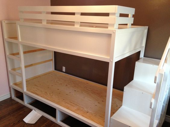 Ikea Kura Lifted And Made Into A Bunk Bed Plus Room For