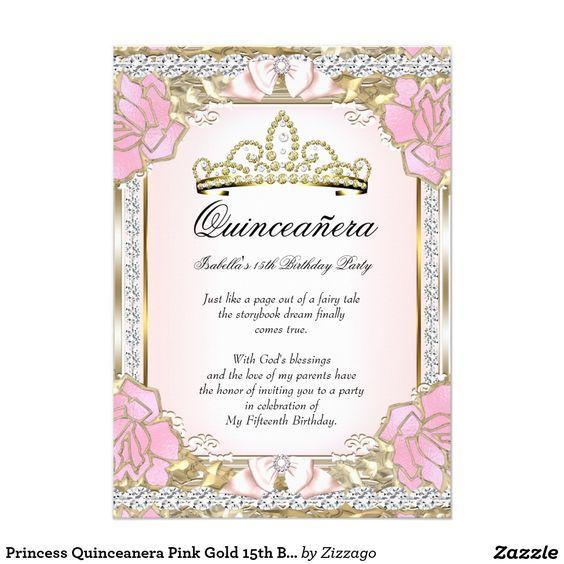 Printable Invitations Quinceanera