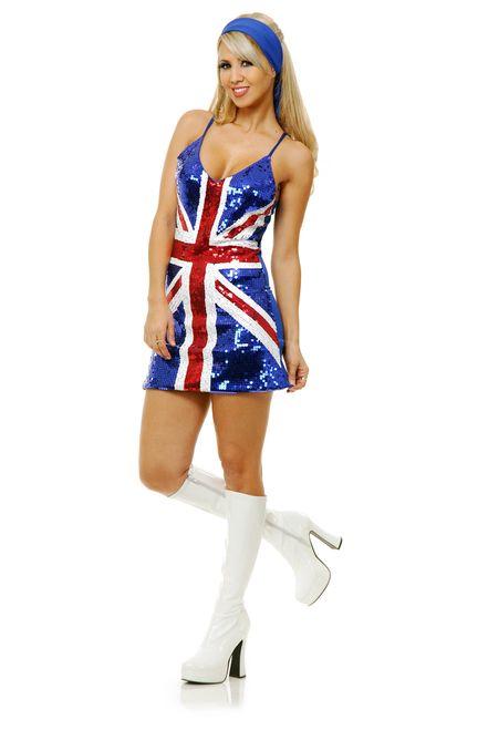 Sequin Dress Flag British