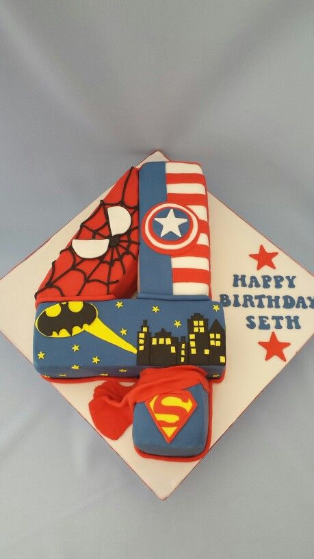 Superhero Cakes And Number Cakes On Pinterest