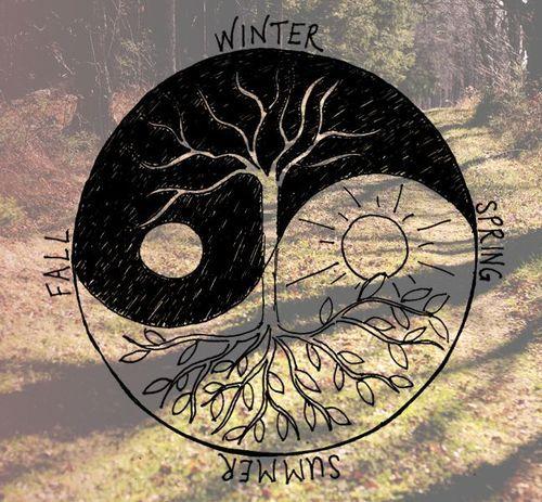 Sun and Moon Drawing Tumblr | love winter art tree summer ...