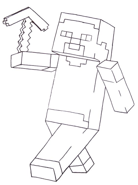 Minecraft Alex Coloring Pages Farmer