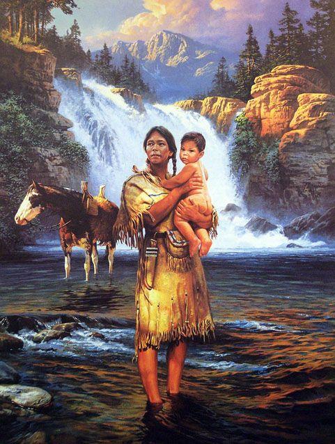 Paintings Hubert Native American Wackermann