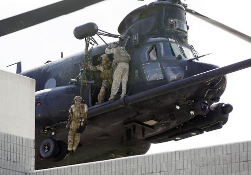Army Special Operations Chinook Helicopter