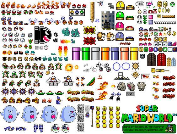 Bowser Jr Pixel Art Grid