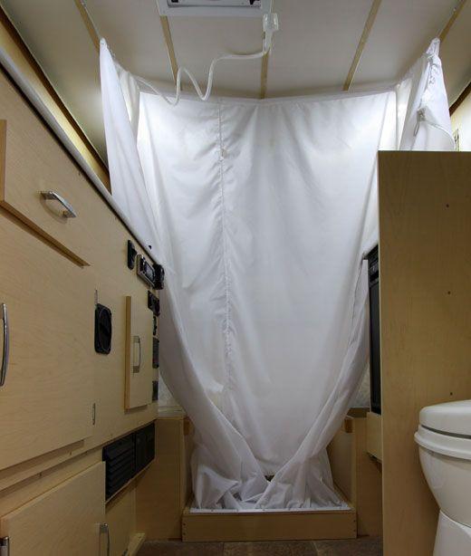 Campervan Shower Curtain