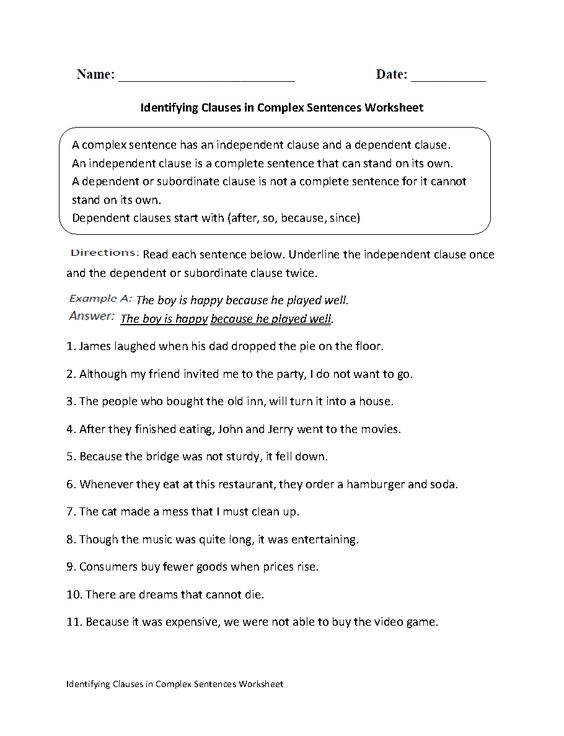 7th Worksheets And Simple Subject Predicate Grade