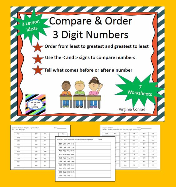 Comparing Three Digit Numbers Activities