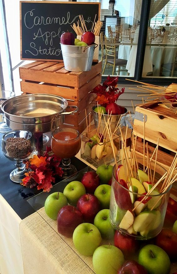 Fall Wedding Reception Food