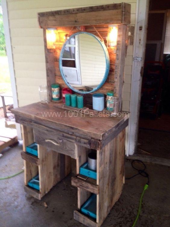 Makeup Pallet Vanity Diy Table