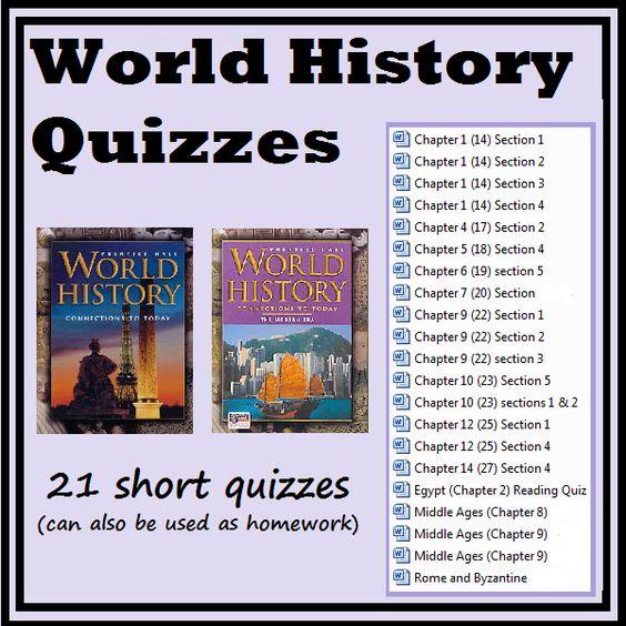 world history homework answers