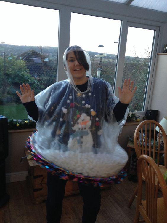 White Halloween Costume Snow Diy