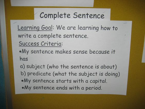 Writing Sentences Partner