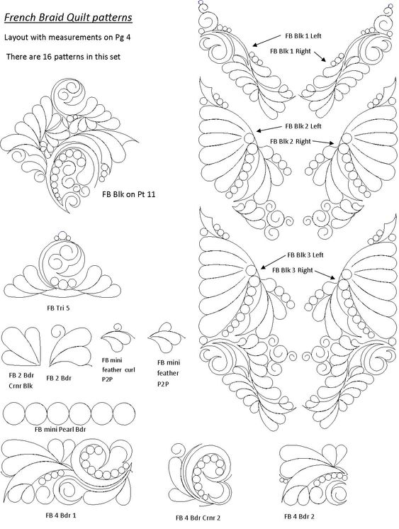 Computerized Longarm Quilting Designs X