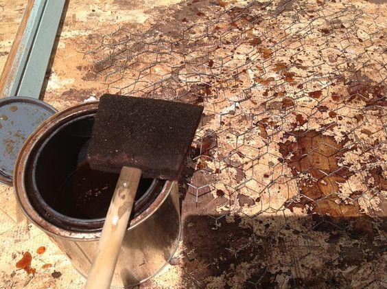 Galvanized Steel Patina Vinegar