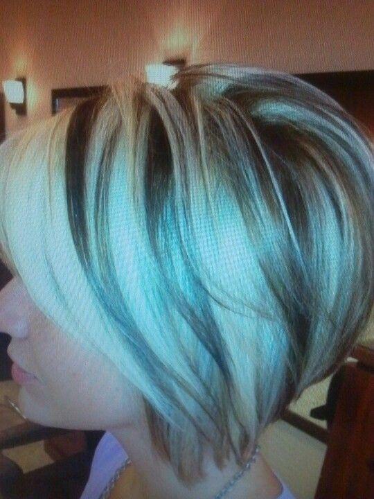 Dark Brown Hair Blonde High Lights