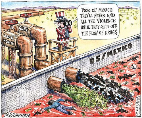 Political Trafficking Drug Cartoons