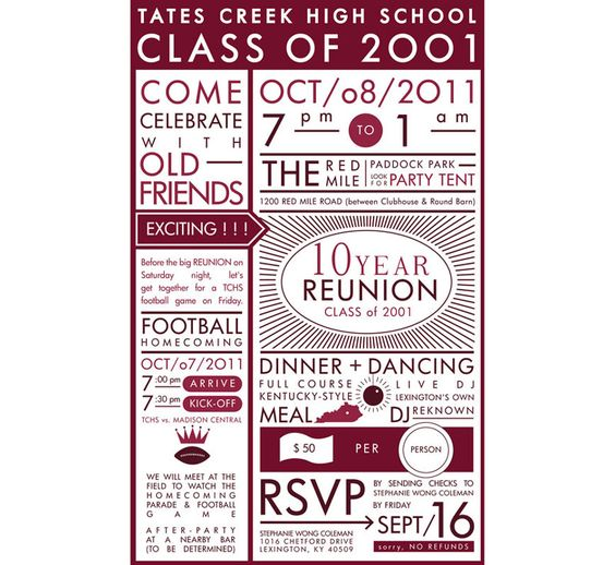 Cheap Reunion Invitations