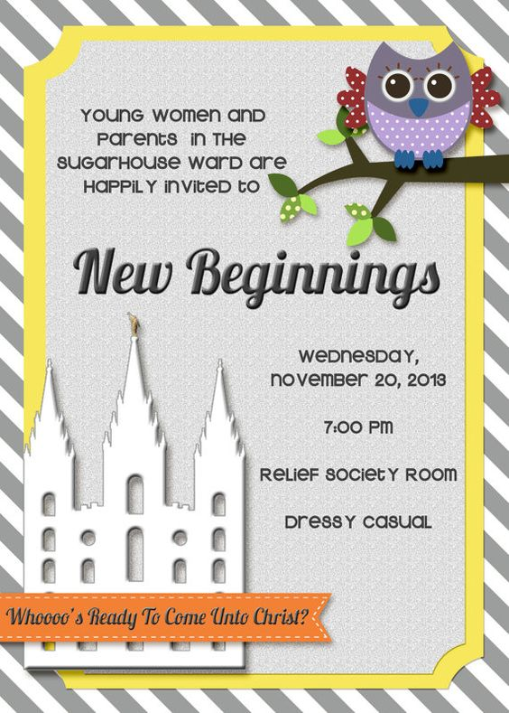 Come Unto Christ Yw New Beginning