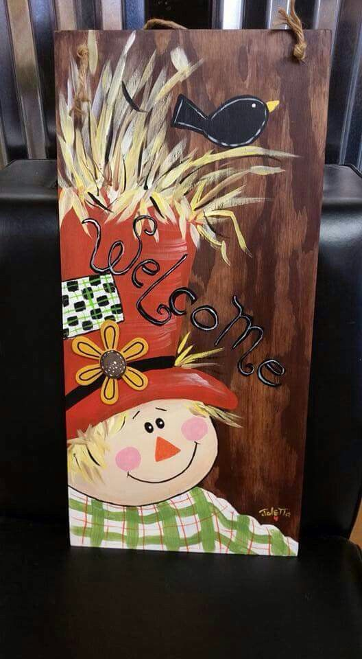 Pumpkins Canvas Painting Ideas Rustic