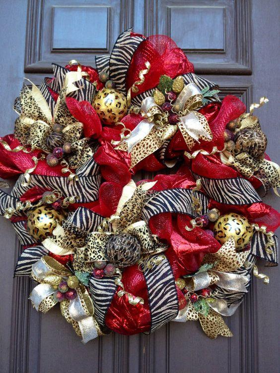 Burgundy Black Wreaths Christmas And Gold