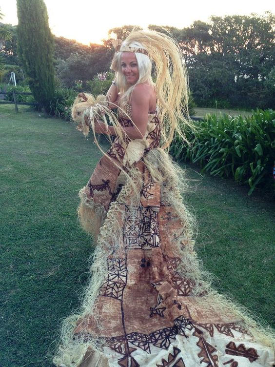 Tapa Samoan Wedding Dresses Design