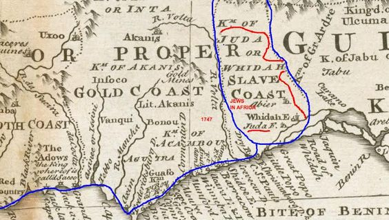 Slave Africa 1747 Map West