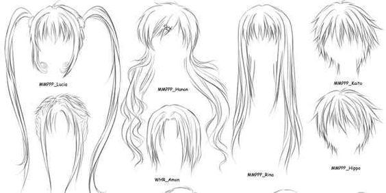 Anime Hair Base | Anime, Toys & Other Stuff | Pinterest ...