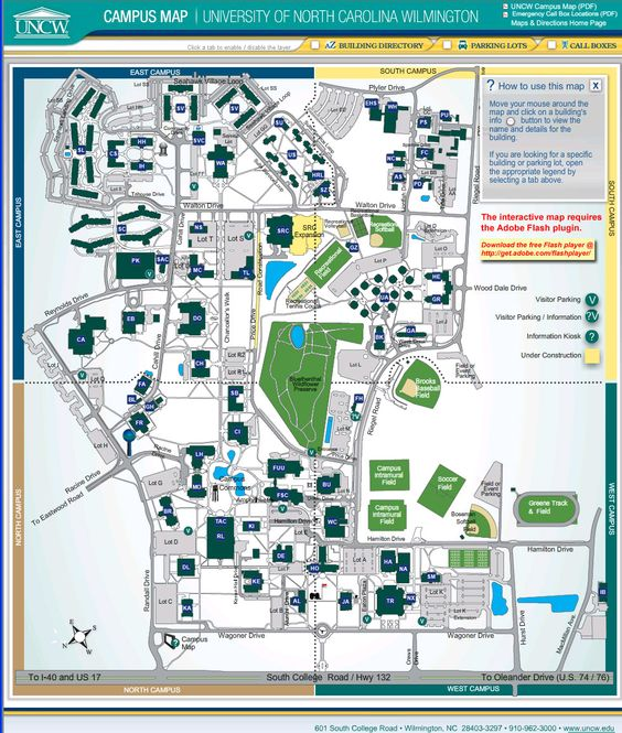 Map Skidmore College Campus