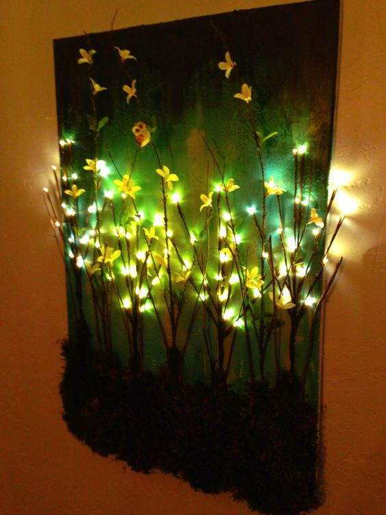 Christmas Lights Behind Canvas