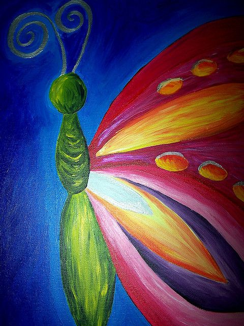 Butterfly Painting For Z S Room With Different Colors