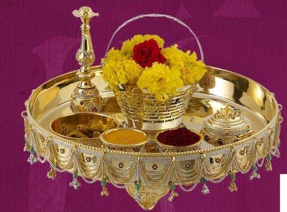 Pooja Thali Decoration Ideas Wedding