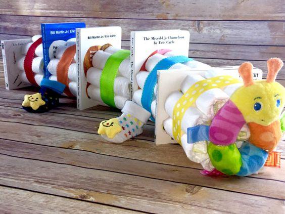Cake Diaper Shower Baby Bookworm