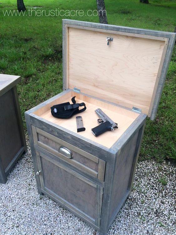 Custom Built Nightstand With Hidden Gun Storage Built By