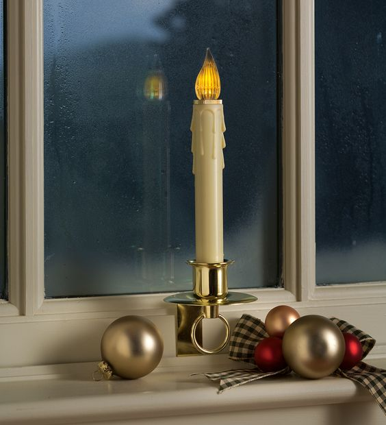 Battery Window Candles Holiday