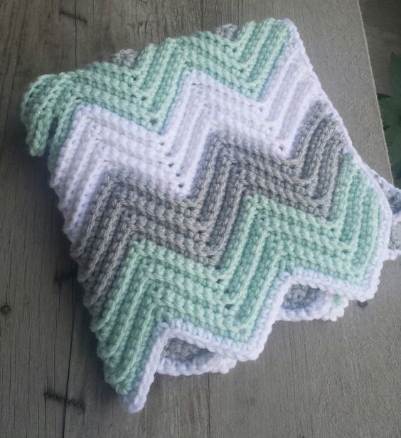 Knitted Ripple Baby Blanket Pattern