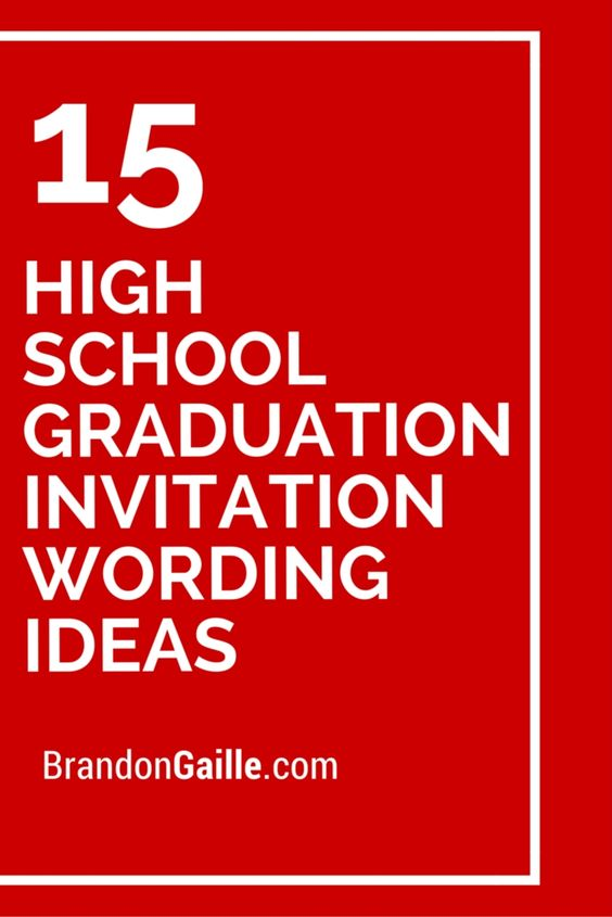 High School Graduation Invitation Ideas