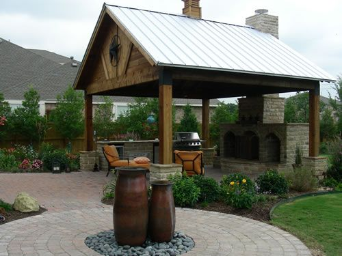 Covered Patios Outdoor Covered Patios And Fireplaces On