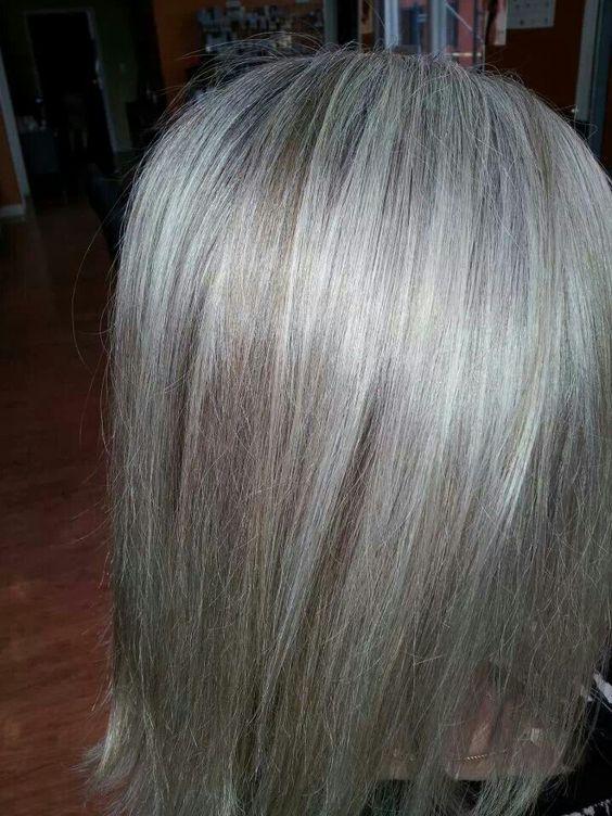 Highlights Short Hair Grey